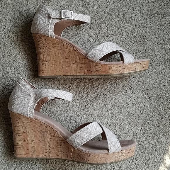 657e99c287 Toms Shoes | Sienna Cork Wedge Heel Sandals | Poshmark